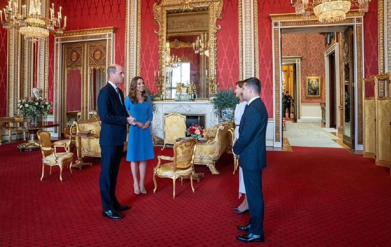 Без масок: як Кейт Міддлтон і принц уільям зустрічали Зеленських в Букінгемському палаці (фото)